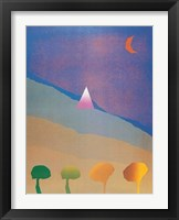 Framed Egypt Blue/One Moon/Four Trees