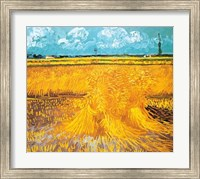 Framed Wheatfield, 1888