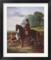 Framed Huntsman with his Greyhounds