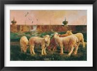 Framed Five Lambs, 1988