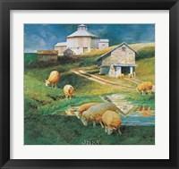Framed Octagonal Barn, 1988
