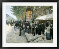 Framed Paris on the Boulevard, 1890