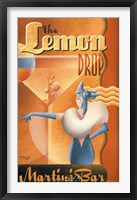 Lemon Drop Martini Bar Framed Print