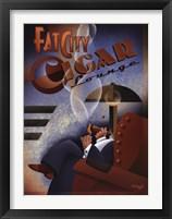 Framed Fat City Cigar Lounge