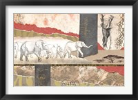 Framed Serengeti Elephants