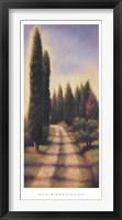Tuscan Road I Framed Print