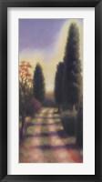 Framed Tuscan Road II