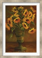 Framed Mediterranean Sunflowers I