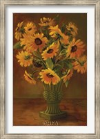 Framed Mediterranean Sunflowers II