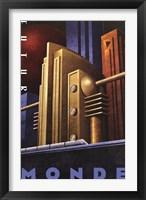 Futur Monde Framed Print