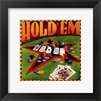 Hold 'em Poker Framed Print