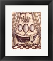 Charming Bathroom I Framed Print
