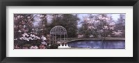 Framed Lakeside Gazebo Panel