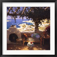 Framed Bodrum Leyla's Terrace