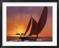 Framed Sails In The Sunset