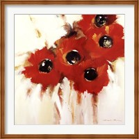 Framed Crimson Poppies I