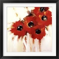Framed Crimson Poppies I