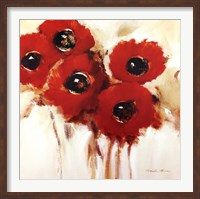 Framed Crimson Poppies II