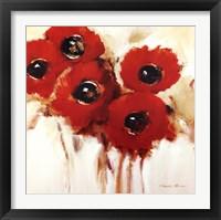 Framed Crimson Poppies II