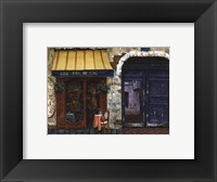 Framed Yellow Awning