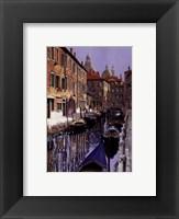 Framed La Barche Sul Canale