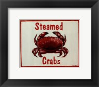 Steamed Crabs Framed Print