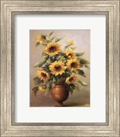 Framed Sunflowers In Bronze I