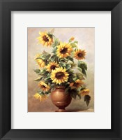 Framed Sunflowers In Bronze II