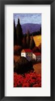 Framed Tuscan Poppies Panel I