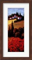 Framed Tuscan Poppies Panel II