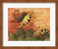 Framed Sunflowers On Red