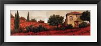 Framed l Papaveri Sulle Colline