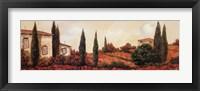 Tre Casa Tra l Papaveri Framed Print