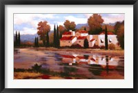 Framed Village Reflection