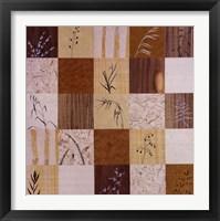 Framed Patchwork Of Leaves II