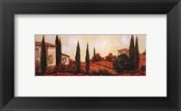 Framed Tre Casa Tra l Papaveri
