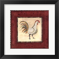 Framed Mosaic Rooster No.2