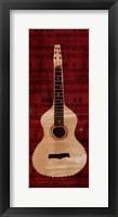 Framed White Check Guitar
