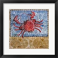 Framed Mosaic Crab