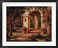 Arch Courtyard I Framed Print