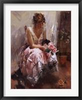 Framed Una Rosa