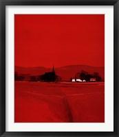 Framed Paysage Dans Le Rouge