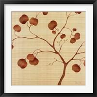 Framed Autumn Leaves on Silk II