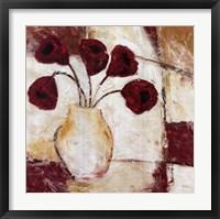 Framed Red Flowers II