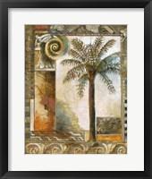 Framed Paradisiacal Palm II