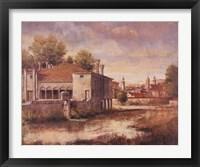 Framed Peaceful Cottage