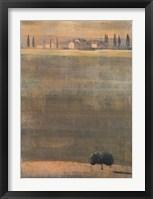 Framed Montalcino Dawn