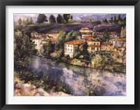 Framed Village on the Arno