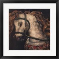 Framed Wooden Horse One