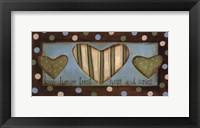 Love Honor Trust Hugs & Kisses Framed Print